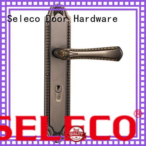 SELECO zinc alloy balcony door lock bathroom door for wholesale