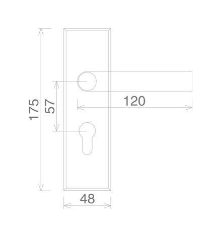 simple design balcony door lock elegant bathroom door-2