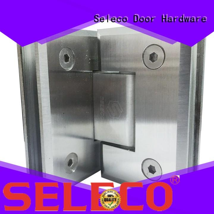 SELECO 180 degree shower hinges glass hardware light-weight door accessory