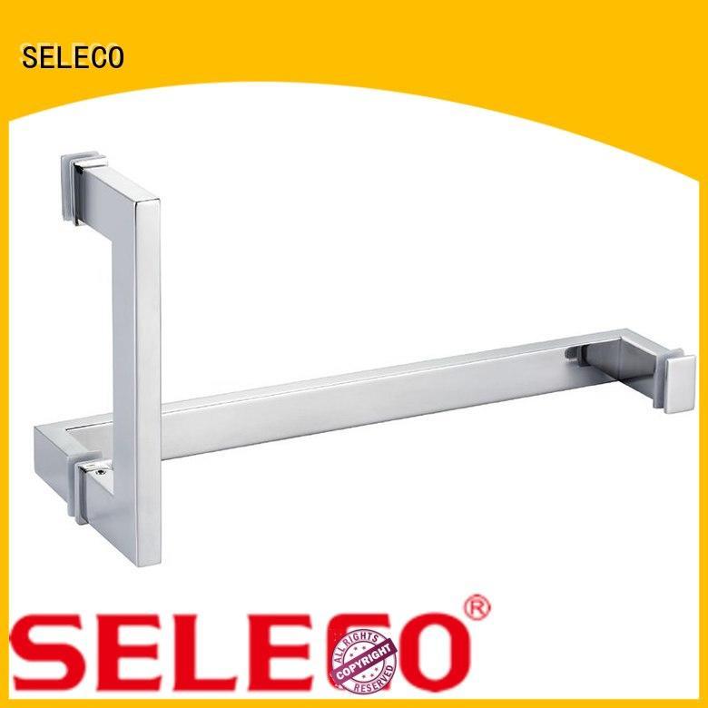 SELECO oxidation-resistant glass shower door handles easy-installation for door factory