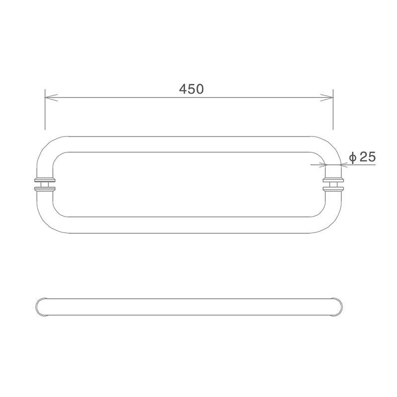 oxidation-resistant glass shower door handles poplar with PVC gasket-2