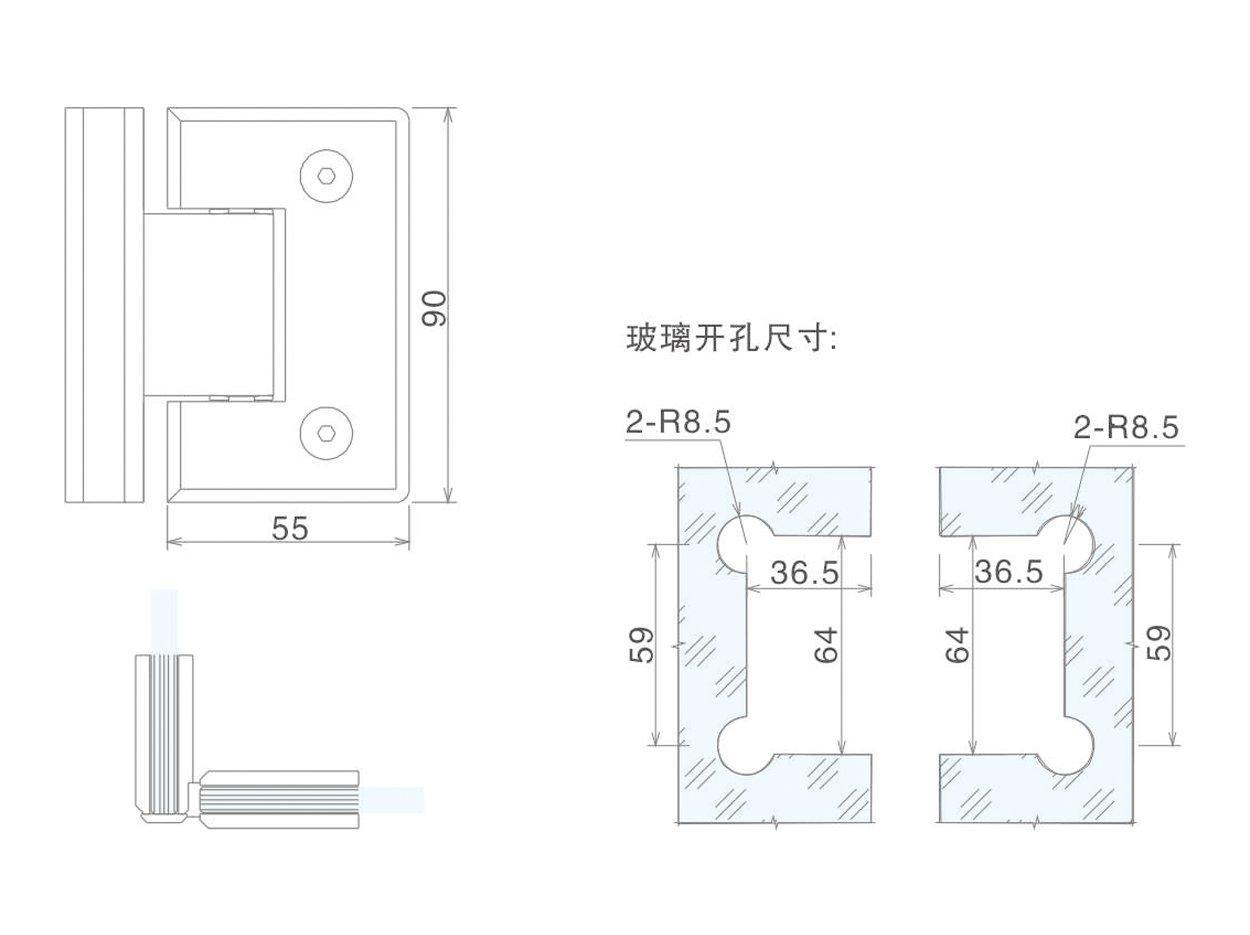 professional glass to glass shower door hinges chic design bathroom door-2