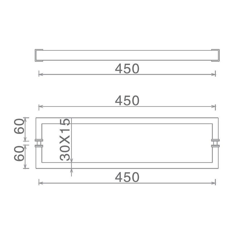 excellent hardness glass shower door handles poplar with PVC gasket for door factory-2