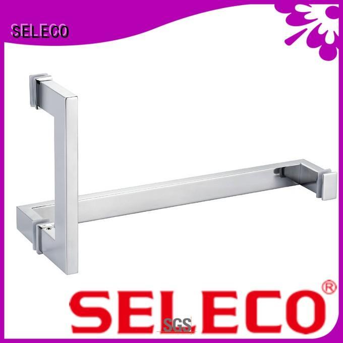 SELECO excellent hardness sliding glass shower door handles at discount for door factory