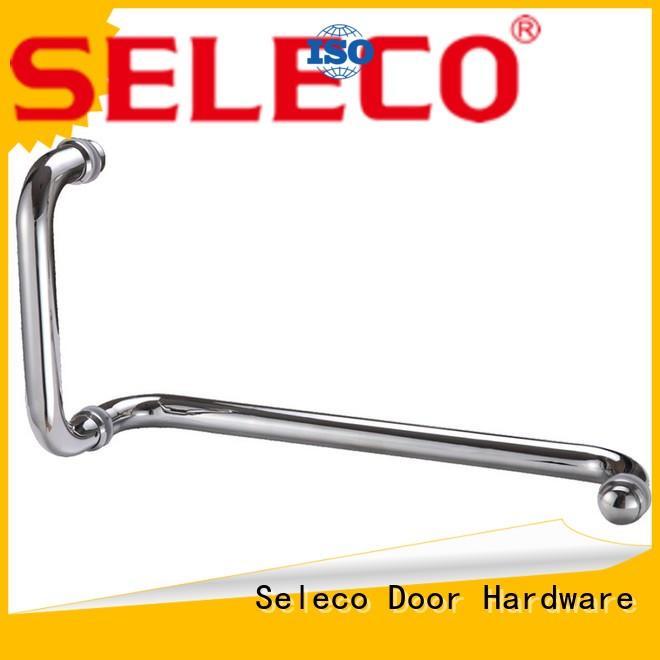 excellent hardness glass shower door handles custom with PVC gasket door material