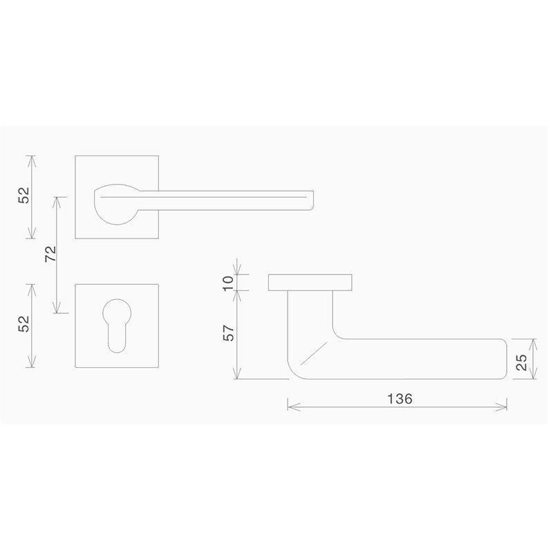 simple design garden door lock fashion bedroom door-2